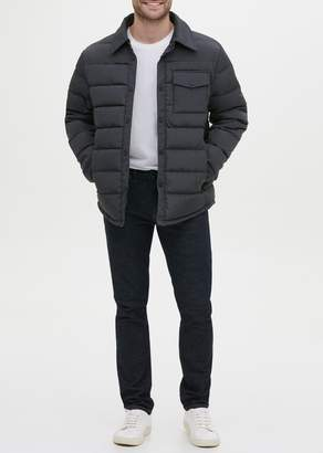 Kenneth Cole Snap Front Shirt Puffer Jacket