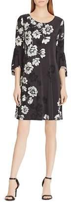 Ralph Lauren Print Flutter-Sleeve Dress