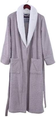 Berkshire Blanket Primalush Large Robe with Grace Fur Collar