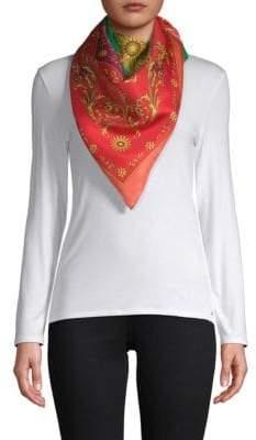 Versace Carre Foulard Silk Scarf