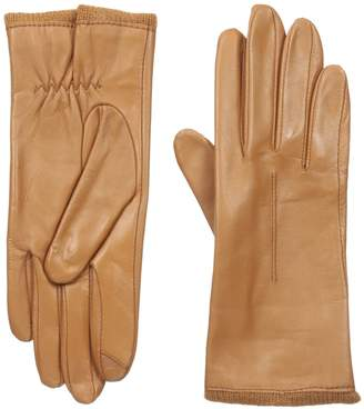 Touchpoint Women's Single Point Exposed Knit Cuff Leather Glove with Technology