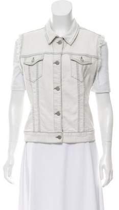 J Brand Denim Button-Up Vest