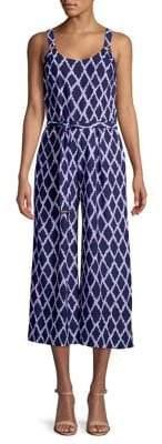 MICHAEL Michael Kors Printed Wide Leg Jumpsuit