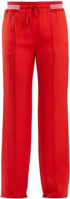 Valentino Slim-leg faille track pants