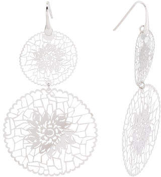 Made In Italy Sterling Silver Flower Cutout Earrings