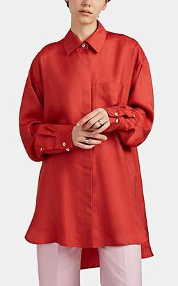 Boon The Shop Women's Raw Silk Oversized Blouse - Orange