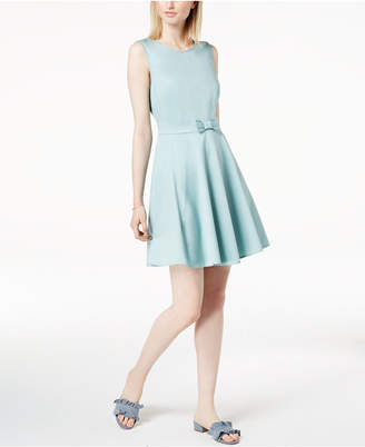 Maison Jules Bow-Detail Fit & Flare Dress, Created for Macy's