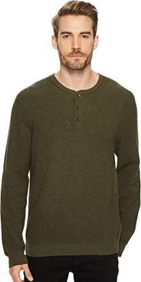 Lucky Brand Men's Colorado Cross Stitch Henley Sweater