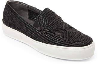 Robert Clergerie Tribal Woven Raffia Slip-On Sneakers