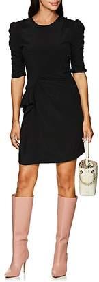 LES COYOTES DE PARIS Women's Nadine Silk Ruffled Dress - Black