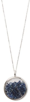 Aurelie Bidermann Fine Jewellery Fine Jewellery - Chivor Sapphire & 18kt White Gold Necklace - Womens - Blue