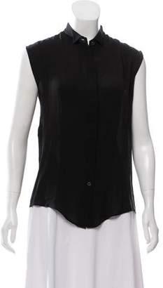 Maison Margiela Silk Oversize Sleeveless Top