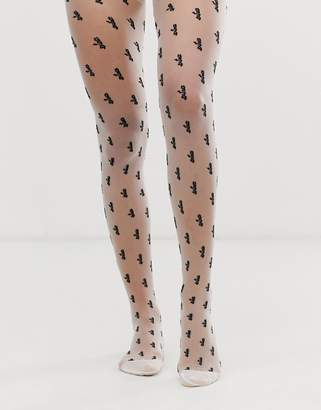 Asos Design DESIGN extra slogan tights