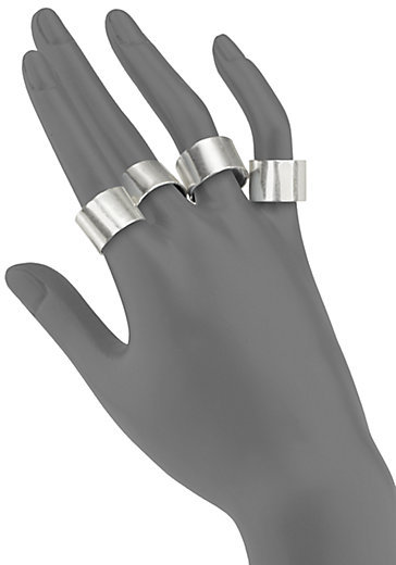 Maison Martin Margiela Knuckle Duster Ring Set/Silvertone