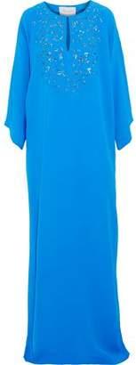 Carolina Herrera Embellished Silk-Crepe Gown