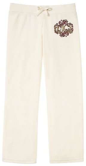 Juicy Couture Girls JC Leaf Original Pant in Velour