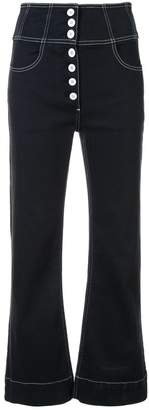 Ulla Johnson high-waisted button jeans