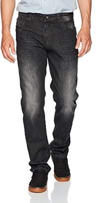 Southpole Men's Basic Universal Slim Straight Fit Denim