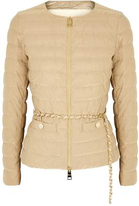Herno Gold Quilted Chain-embellished Jacket