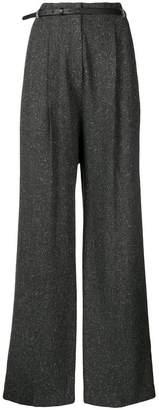 Fabiana Filippi belted flared trousers