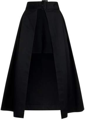 Sandro Layered Midi Skirt