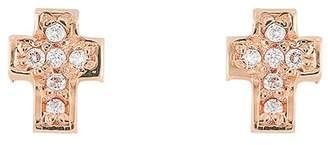 Bony Levy 18K Rose Gold Diamond Cross Stud Earrings - 0.04 ctw