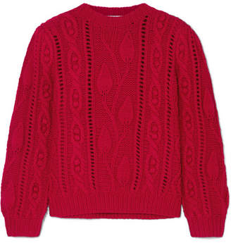 Co Cable-knit Wool And Cashmere-blend Sweater