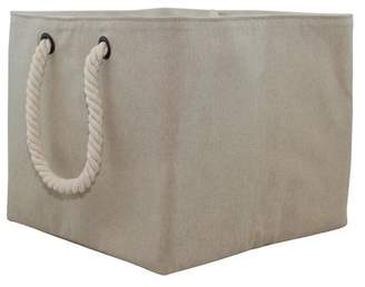 CB Station Storage Fabric Bin with Rope Handle