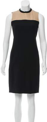 Akris Punto Leather-Accented Wool Dress