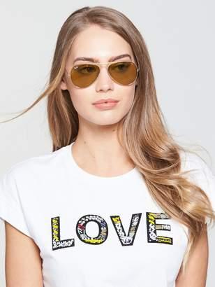 Ray-Ban Large Aviator Sunglasses - Brown