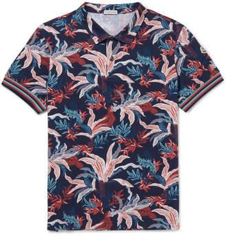 Moncler Printed Cotton-Piqué Polo Shirt