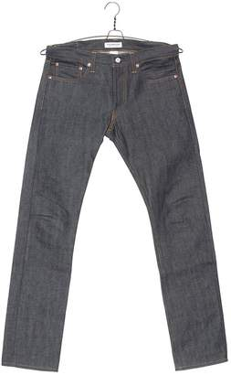 RON HERMAN DENIM 01 Slim In Raw Blue