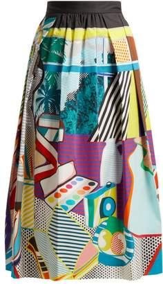 Mary Katrantzou - Bowles Pop Art Print Cotton Blend Skirt - Womens - Multi