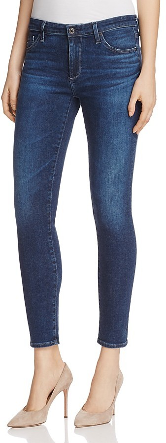 AG JeansAG The Middi Ankle Skinny Jeans in Moonlight