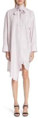 Valentino Tie Neck Silk Dress