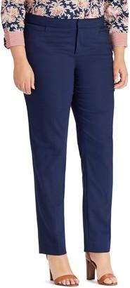 Chaps Plus Size Solid Slim Fit Pants