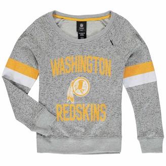 Redskins Outerstuff Girls Youth Gray Washington My City Boat Neck Pullover Sweatshirt