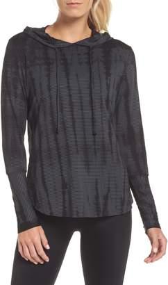 Maaji Waves Tie Dye Gray Hooded Pullover