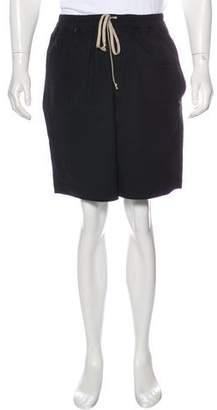 Rick Owens Elasticized Wide-Leg Shorts w/ Tags