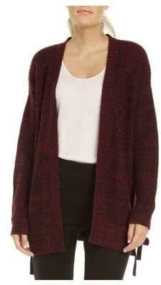 Dex Open-Front Self-Tie Sweater