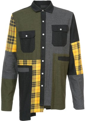 Mostly Heard Rarely Seen oversized plaid flannel shirt