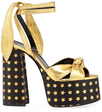 Saint Laurent Paige Star Platform Sandals
