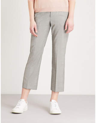 Zadig & Voltaire Posh checked cropped wool trousers