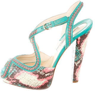 Brian Atwood Printed Peep-Toe Pumps $130 thestylecure.com
