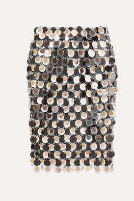 Paco Rabanne Paillette-embellished Chainmail Skirt - Silver