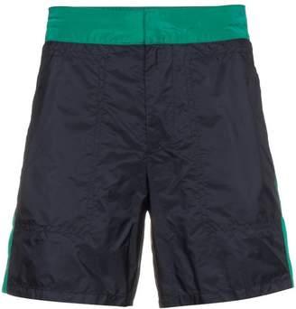 Prada side stripe swim shorts