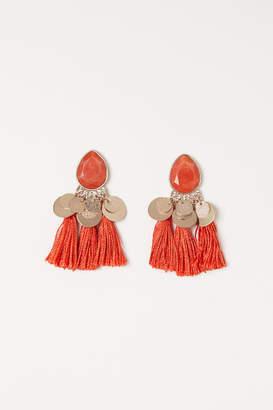 H&M Tasseled Earrings - Orange