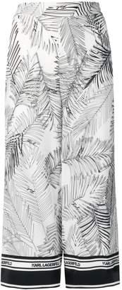 Karl Lagerfeld Paris Karlifornia printed culottes