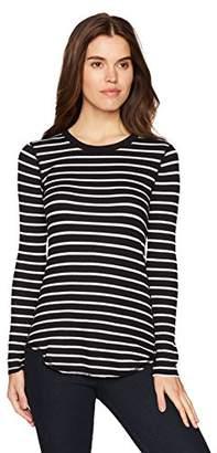 Three Dots Women's Thermal Stripe Tight Long Shirt