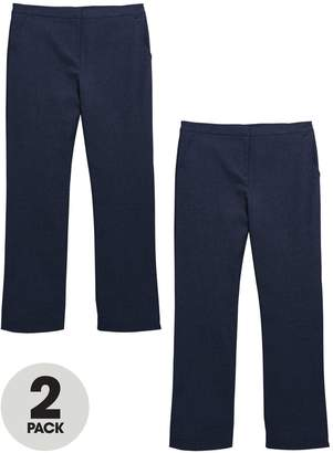 Very Girls 2 Pack Woven PLUS Fit School Trousers